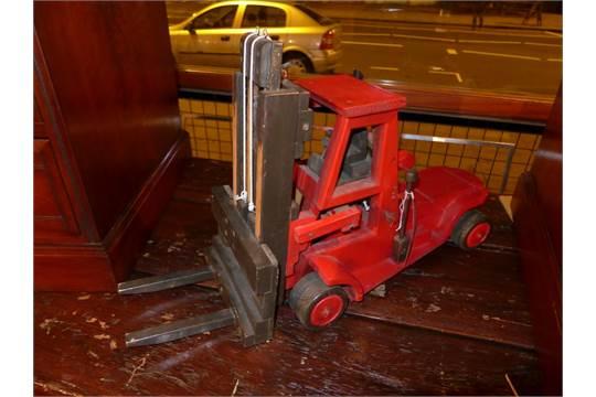 A Richard Blizzard Vintage Toy Forklift