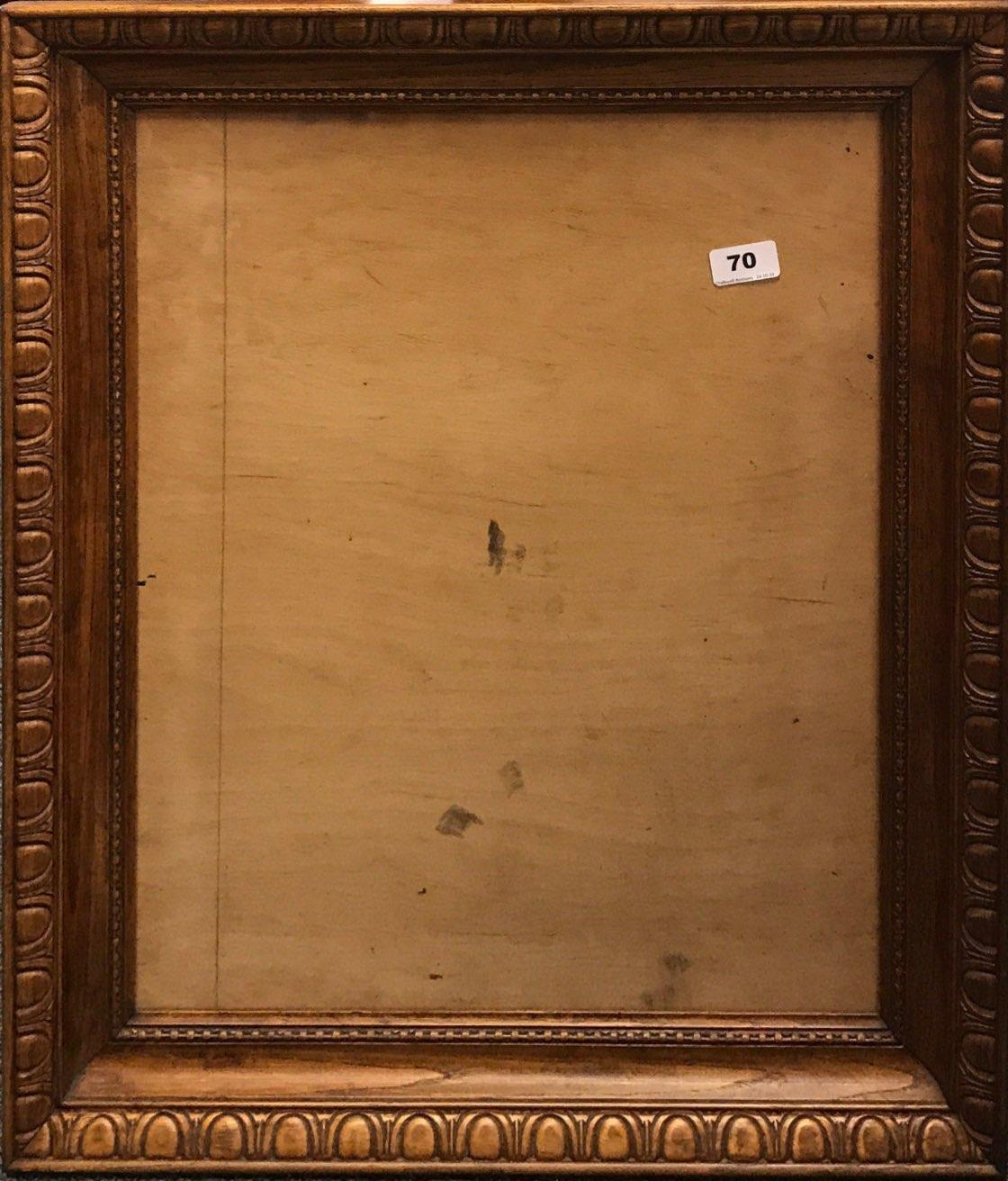 Lot 70 - A useful carved probably 1920's carved oak picture frame, framed size 56 x 66cm.