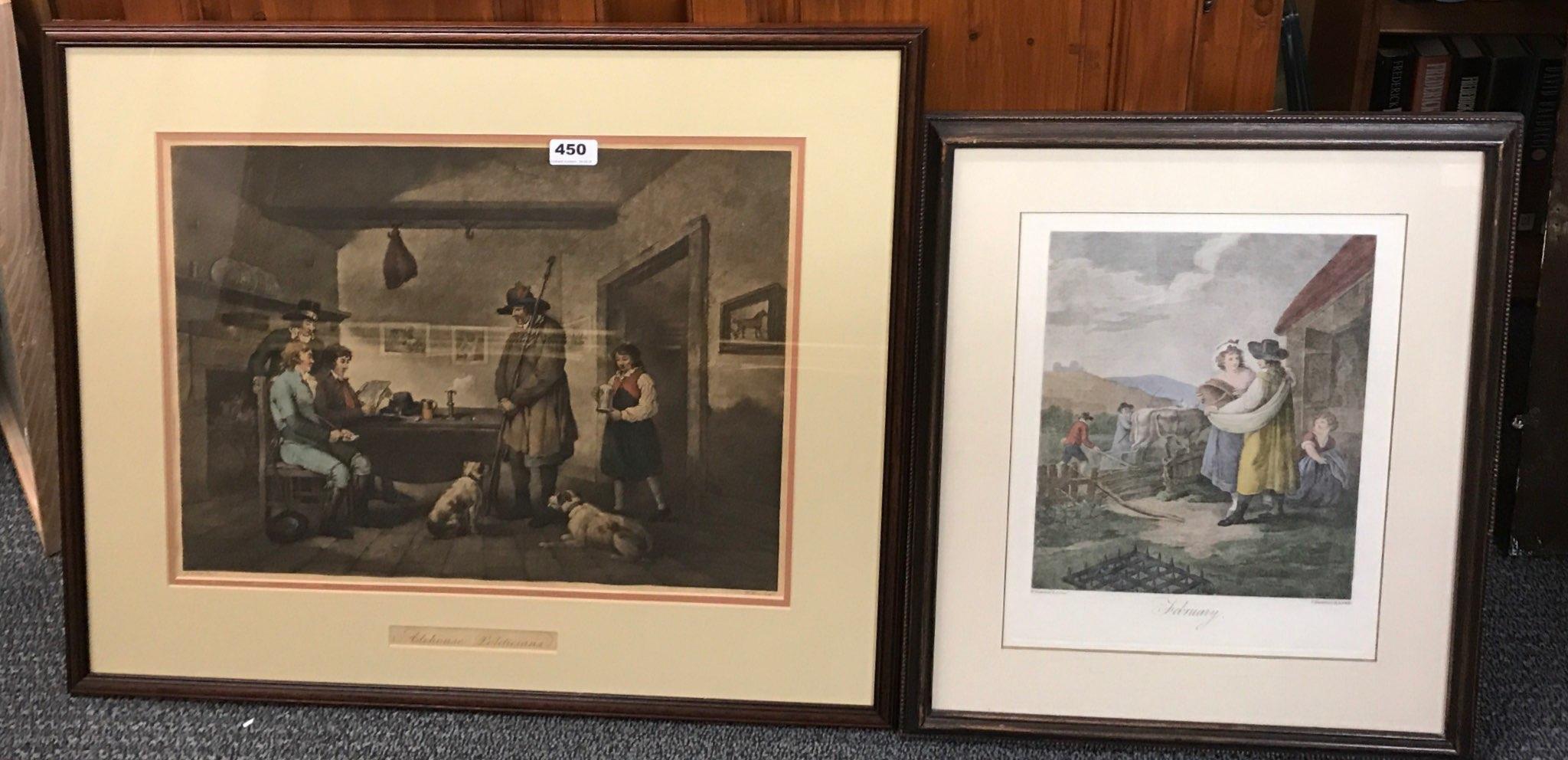 Lot 450 - A framed engraving entitled 'Alehouse Politicians' after G. Moreland, framed size 71 x 60cm together