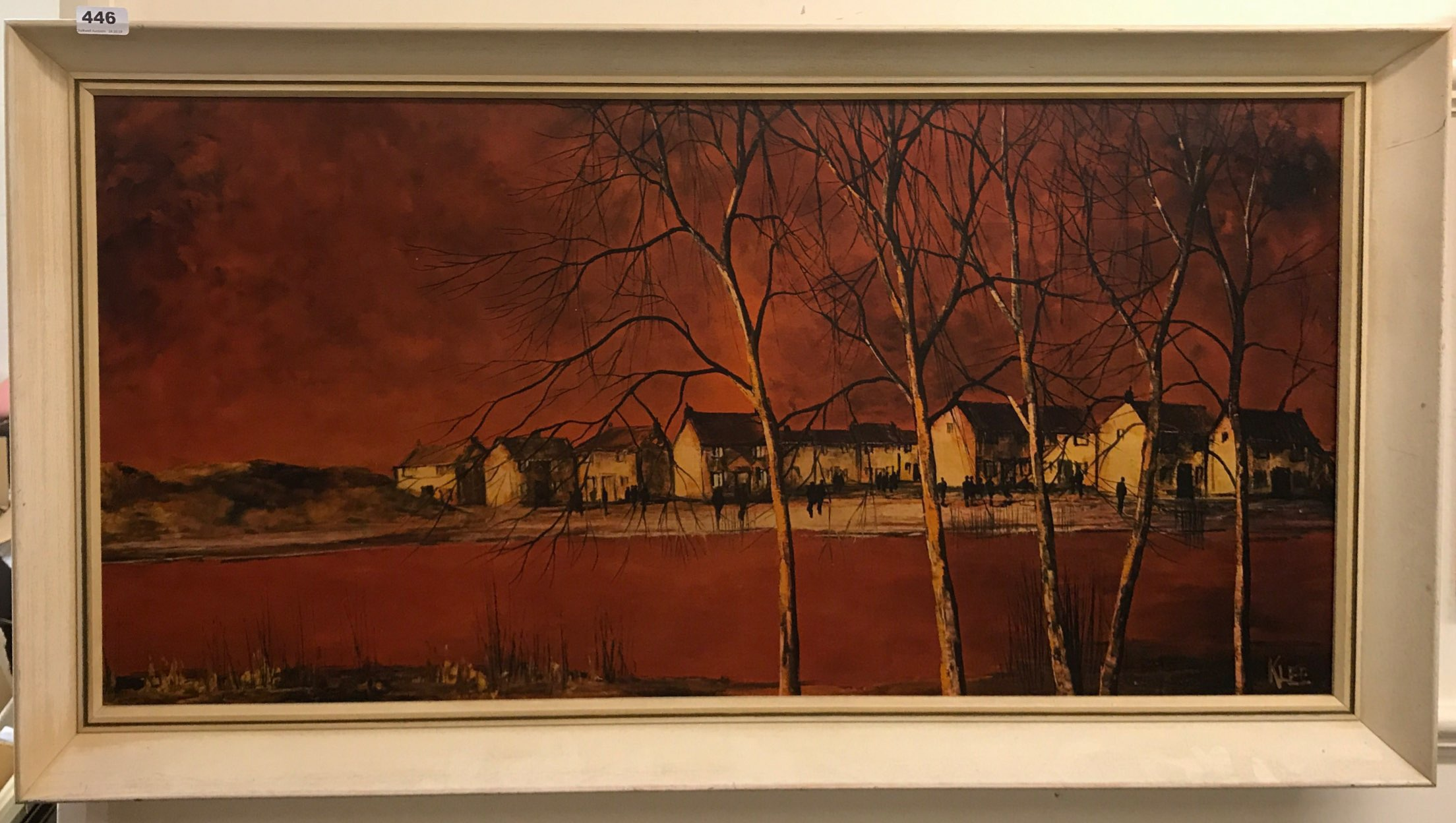 Lot 446 - A 1960's framed print by Paul Klee, framed size 109 x 60cm.