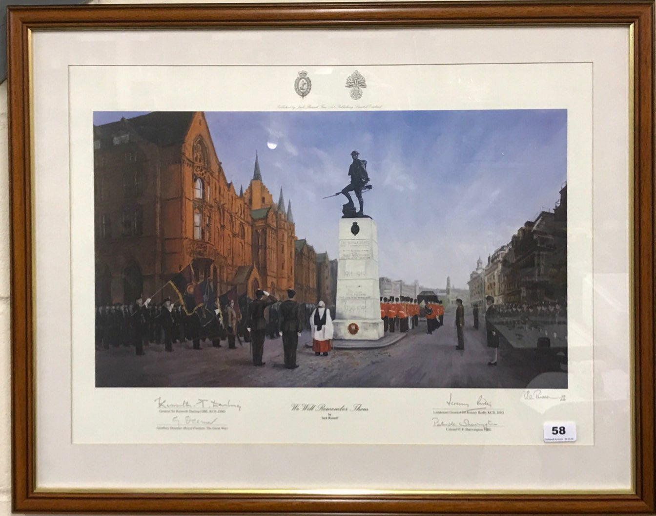 Lot 58 - Jack Russell (British b. 1963) former cricketer. A rare framed limited edition 182/250 lithograph '