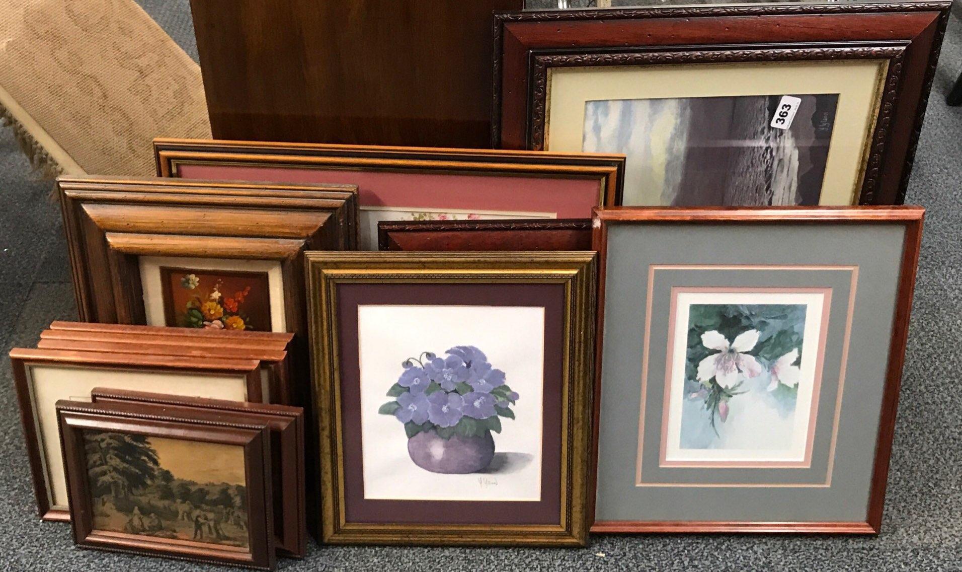 Lot 363 - A quantity of framed prints.