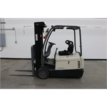 Crown SC4040-40 TT 190 Forklift,, electric , 4000lb capacity, cushion tire, side shift, s/n