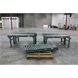 "(7) Roller Conveyer sections, 36""L x 24""W"