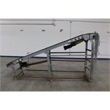 "Inclined Belt Conveyer, 135""L x 24""W, powered, 3/4 HP motor, wheeled"