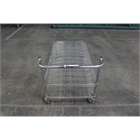 Cart, wire shelving, chrome, rolling