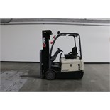 Crown SC 4020-35 TT190 Forklift, electric, 3500lb capacity, cushion tire, side shift, s/n 9A134884