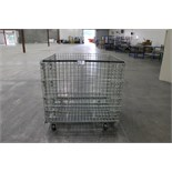 "Rolling Wire Gaylord, 46""W x 39""L x 36""h, 2800lb capacity, collapsible"