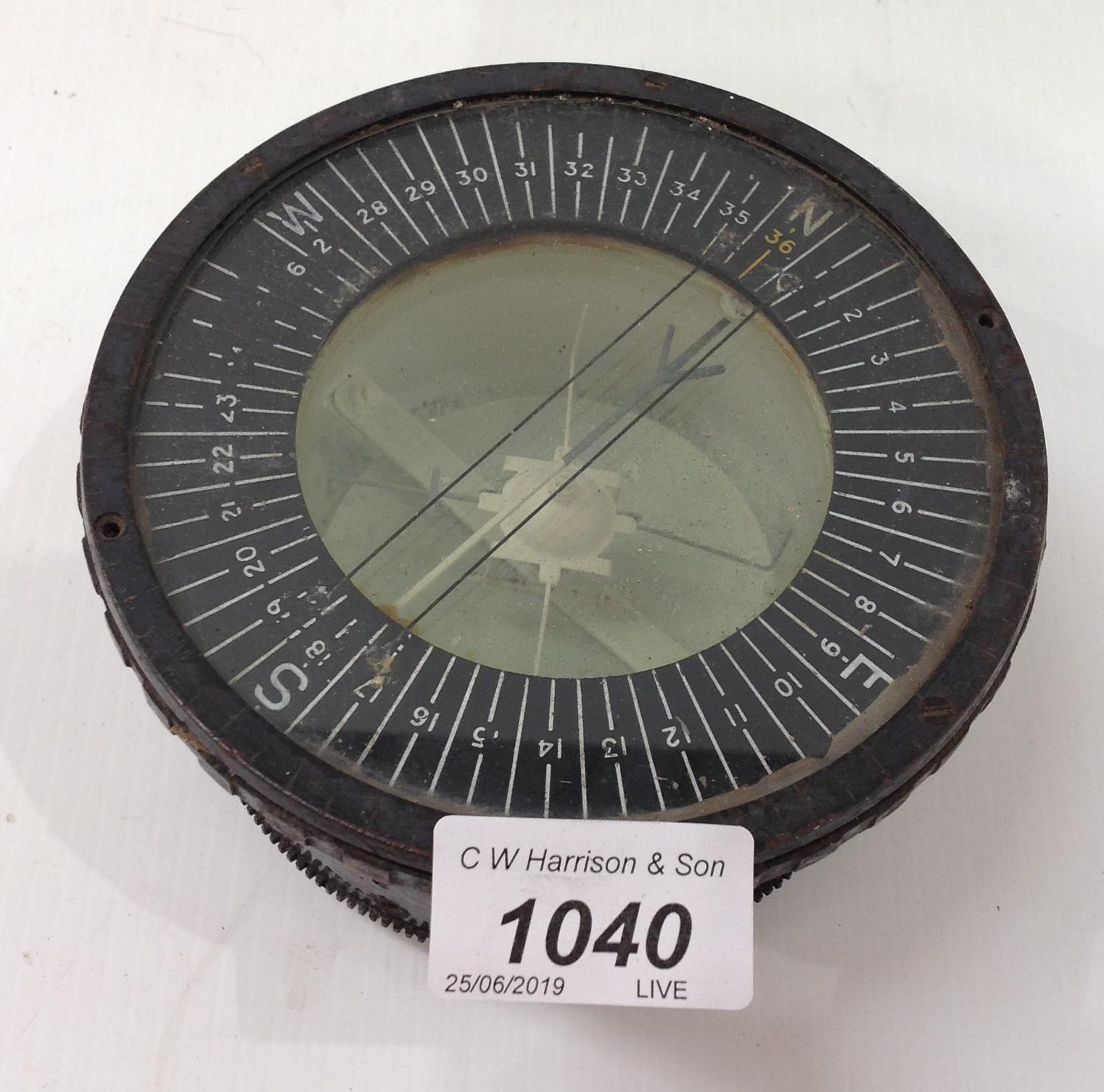 Lot 1040 - A Bombsight 'D' brass bomb sighter ref no: 6E/0276 no: 49114.