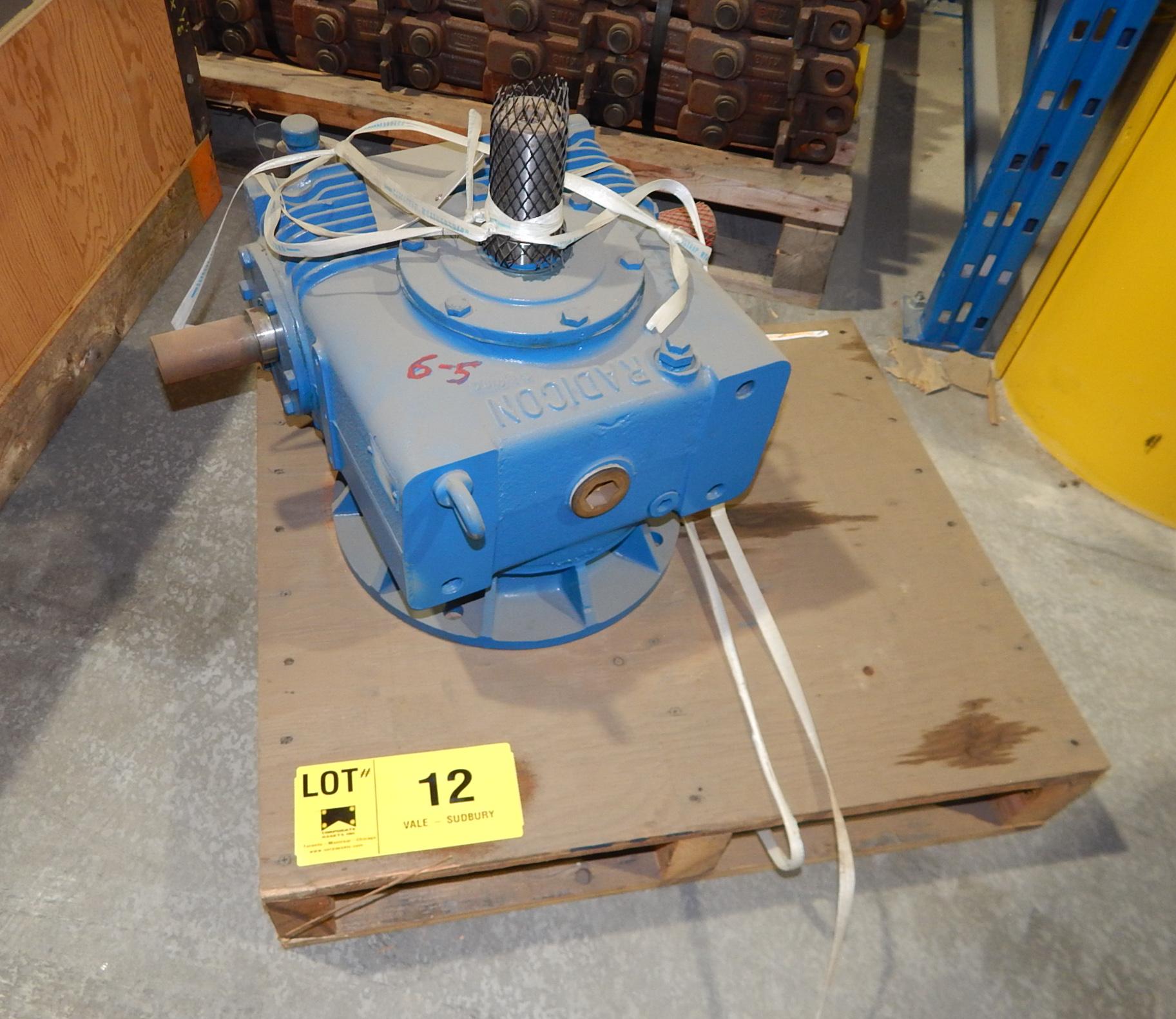 Lot 12 - RADICON 7.4:1 RATIO GEAR BOX (LOCATED AT AER WAREHOUSE)