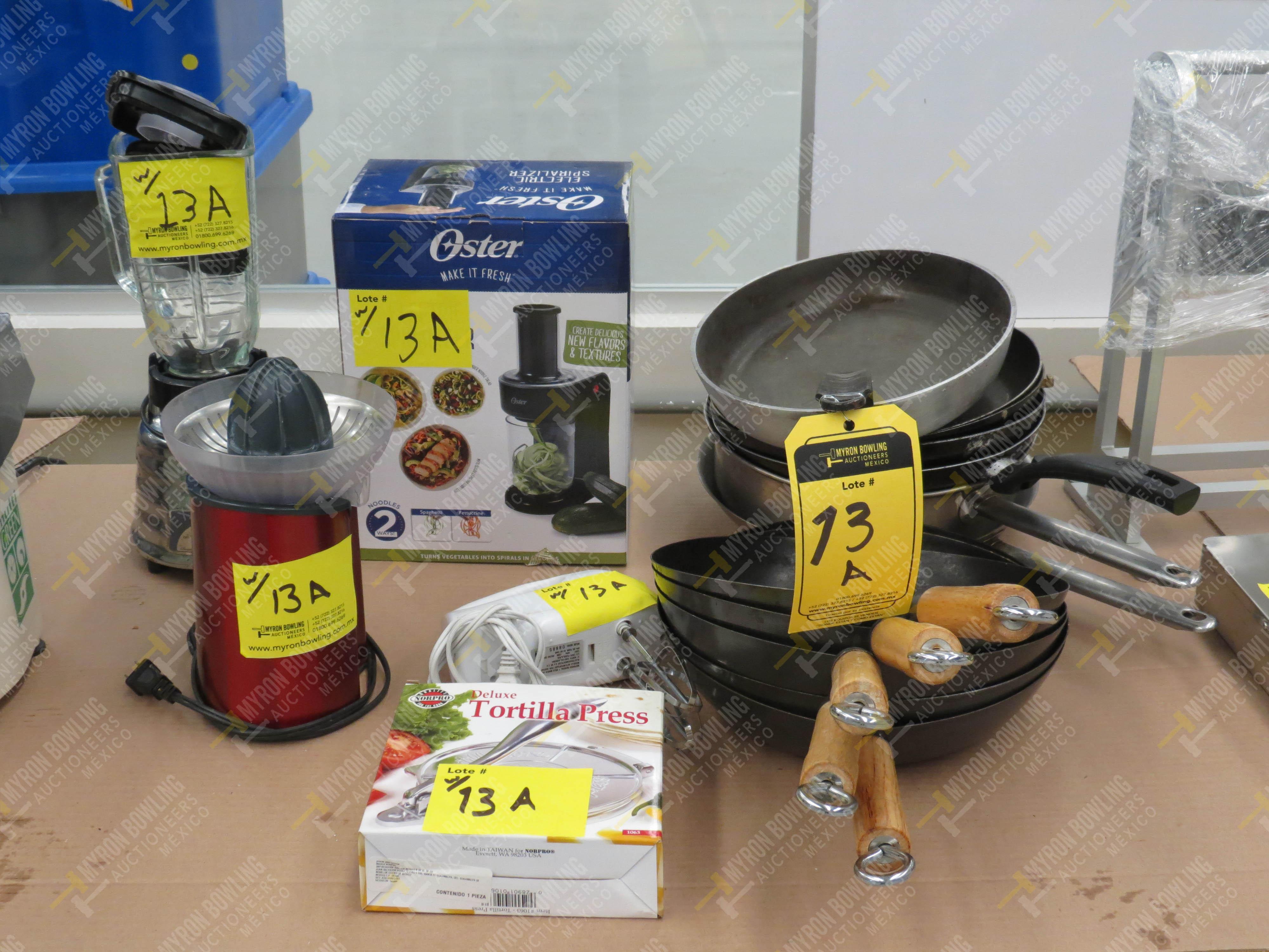 Artículos de cocina varios: extractor de jugos, 12 sartenes de diferentes capacidades - Image 4 of 8