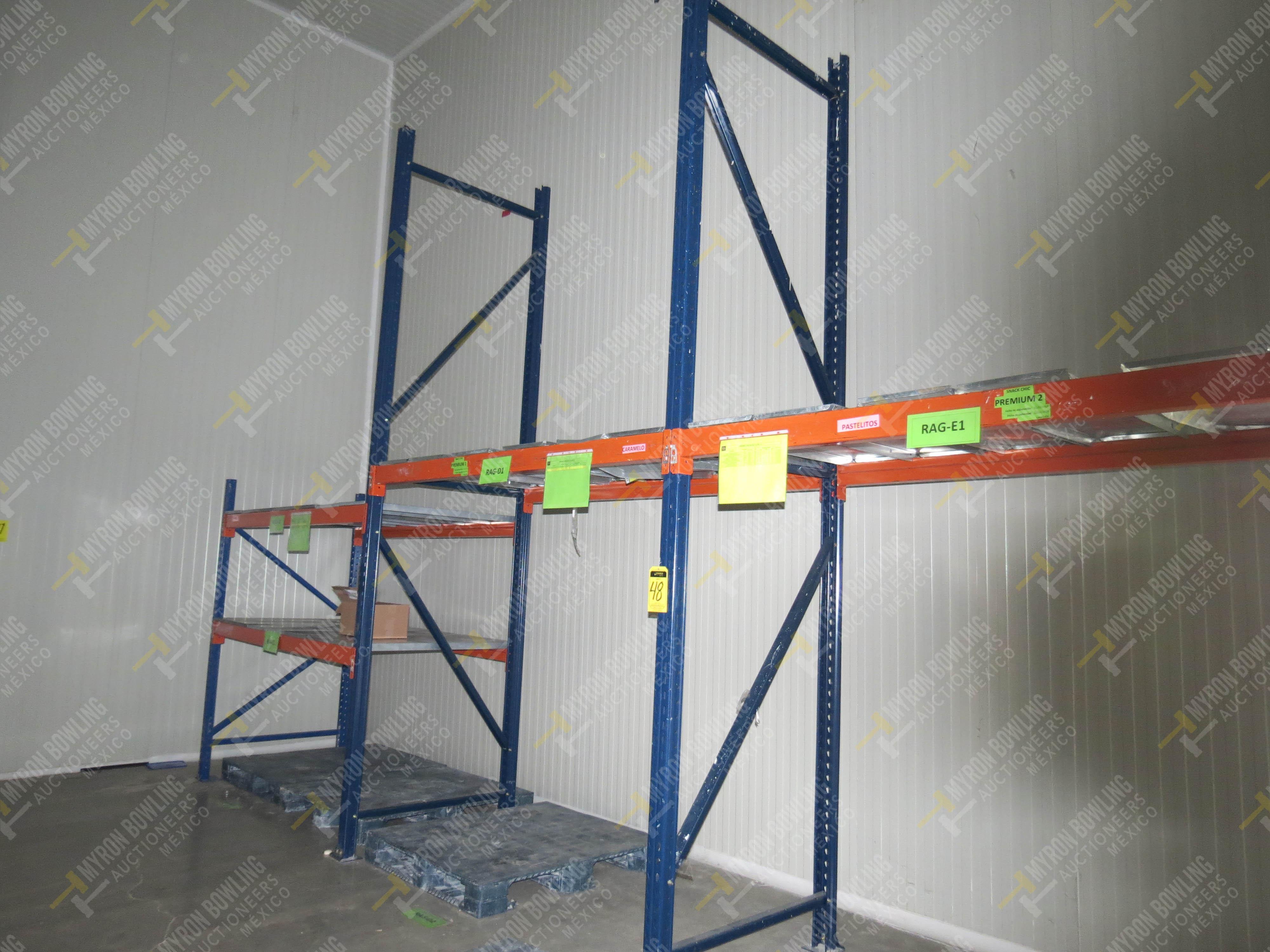 Rack de carga de 9 postes de 1.07 x 4 con 20 travesaños de 2.20 m, se incluye un poste …