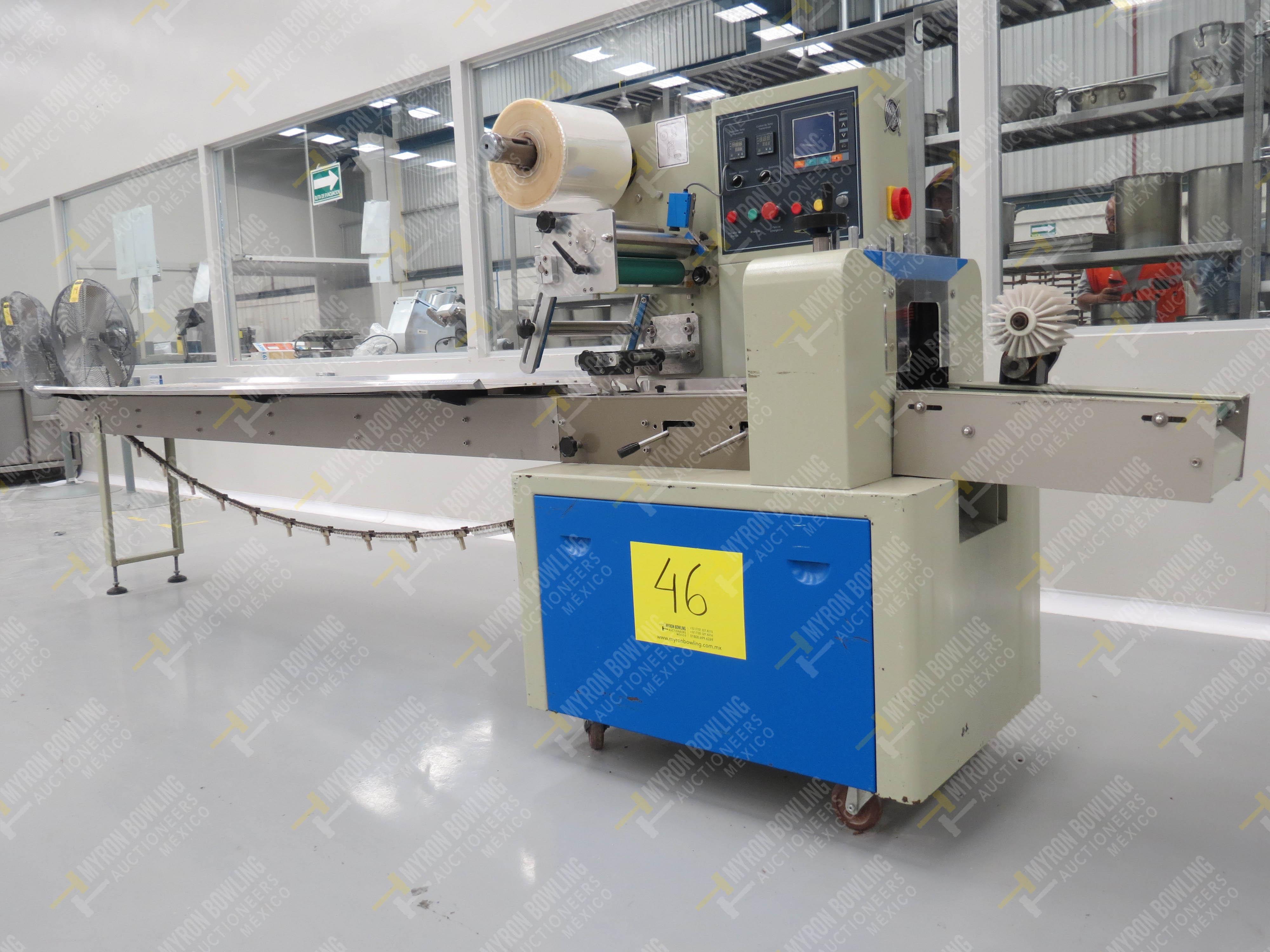 Máquina empacadora automática tipo almohadilla marca Shandong Saixin Inflating Machinery …