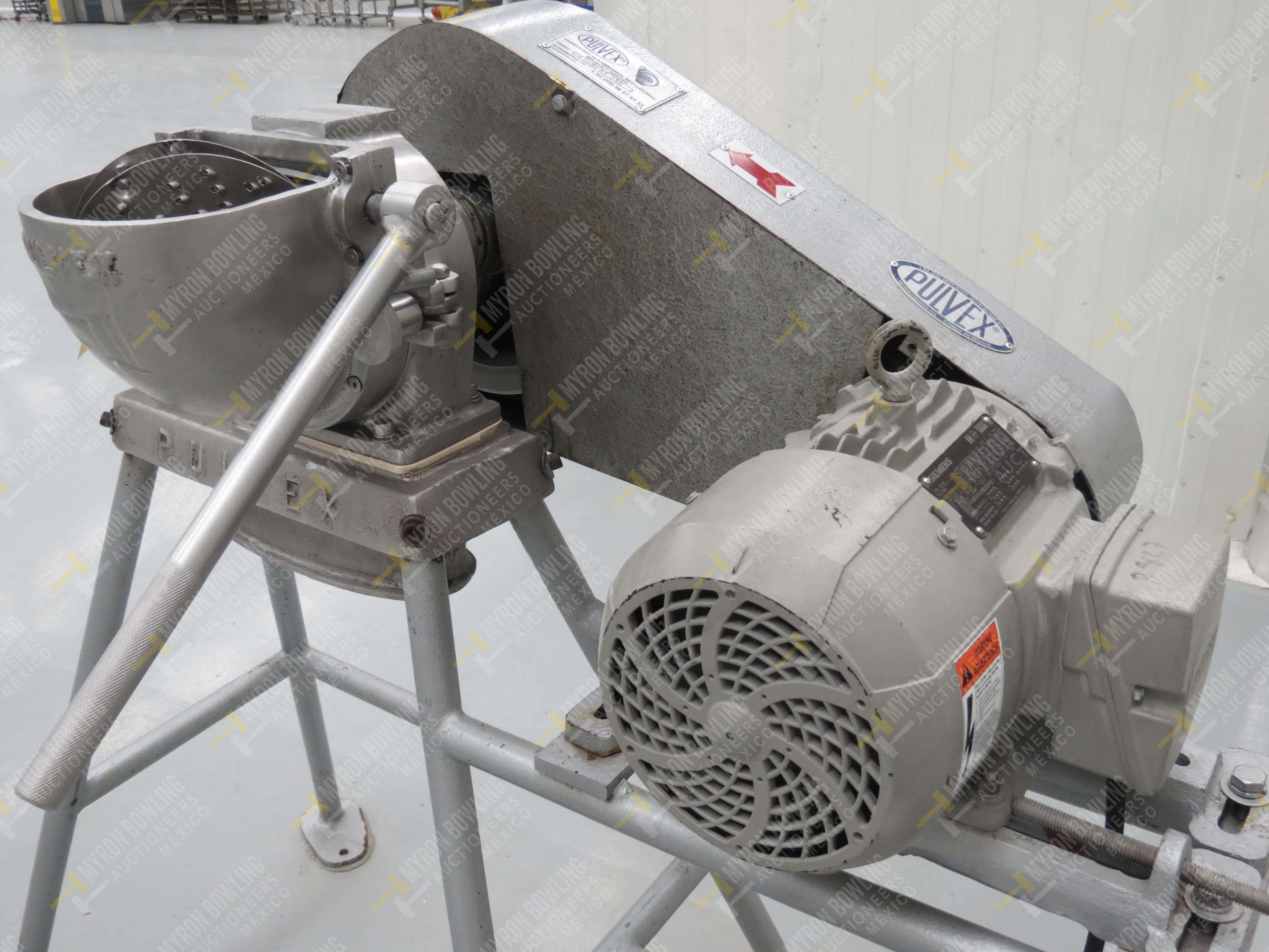 Molino rallador marca Pulvex, Modelo PR200AI316, en acero inoxidable, capacidad de motor 3… - Image 3 of 4