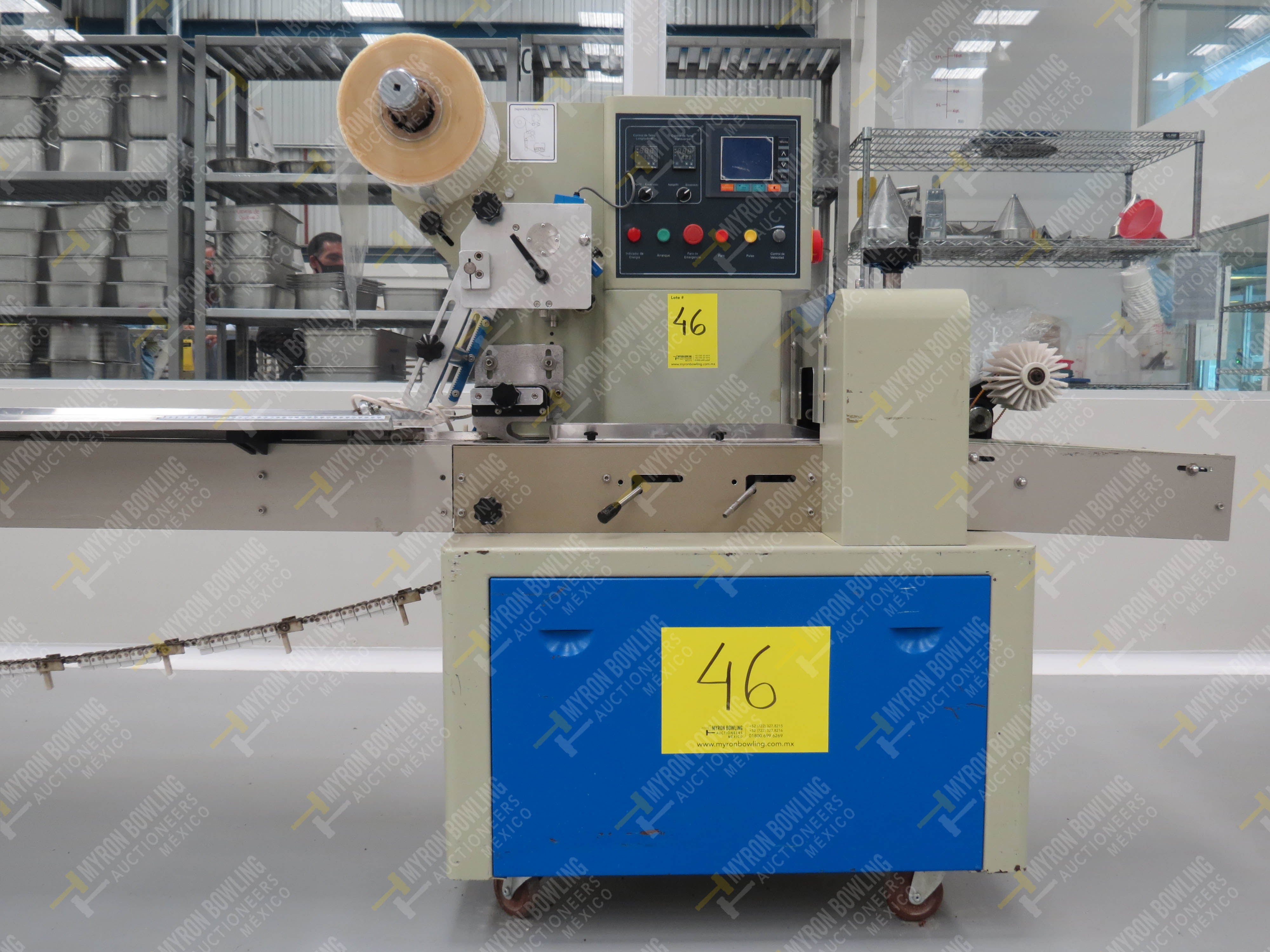 Máquina empacadora automática tipo almohadilla marca Shandong Saixin Inflating Machinery … - Image 2 of 9
