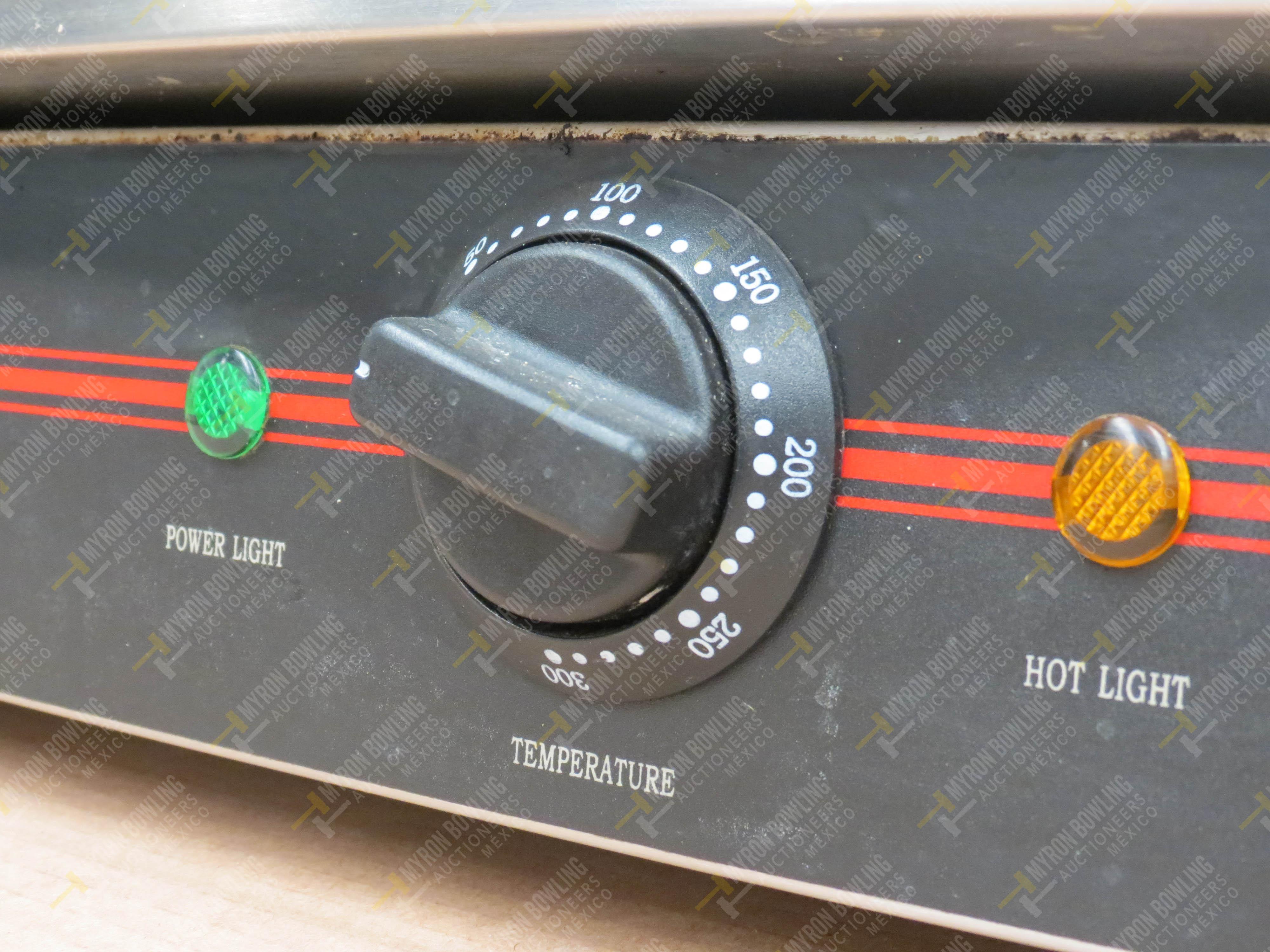 Parrilla eléctrica marca Drago, Modelo Double, No. de Serie 60081029082