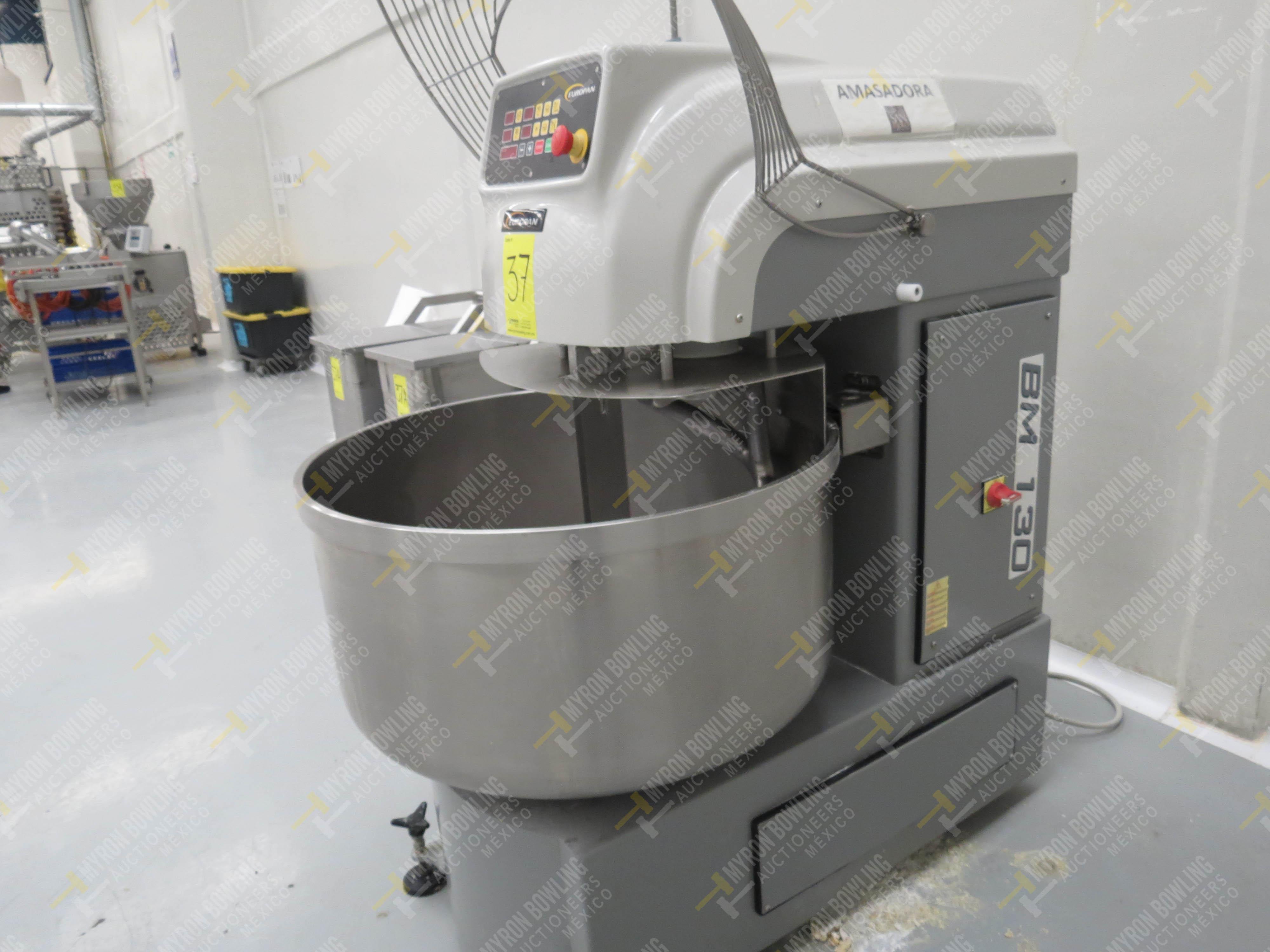 Amasadora Europan con capacidad de 130 kg., Modelo BM130DK, No. de Serie BM130DK-003, año … - Image 4 of 4