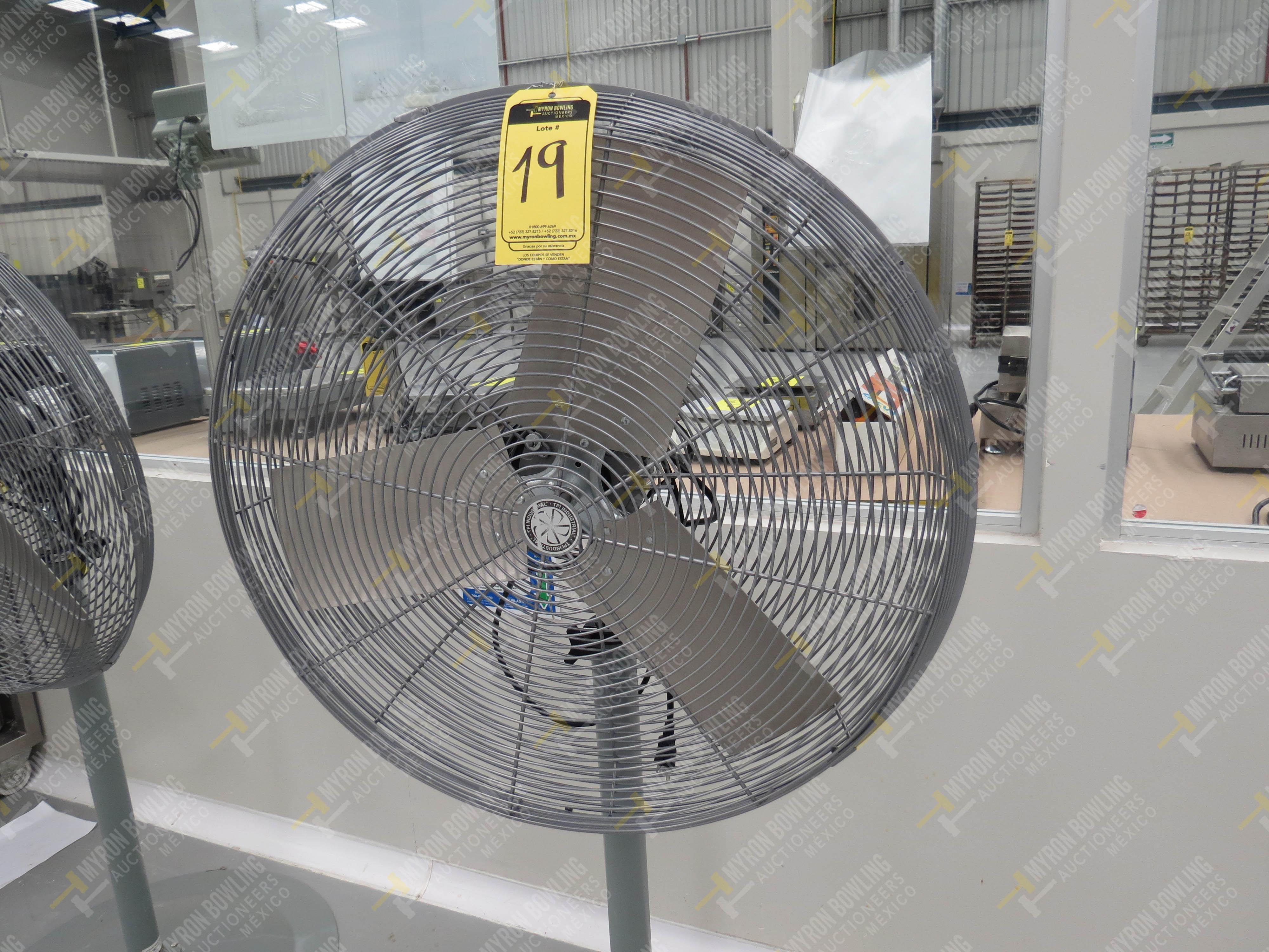 Ventilador de pedestal de 80 cm de diámetro marca TPI Industrial, Modelo CK48HF12JS26, …