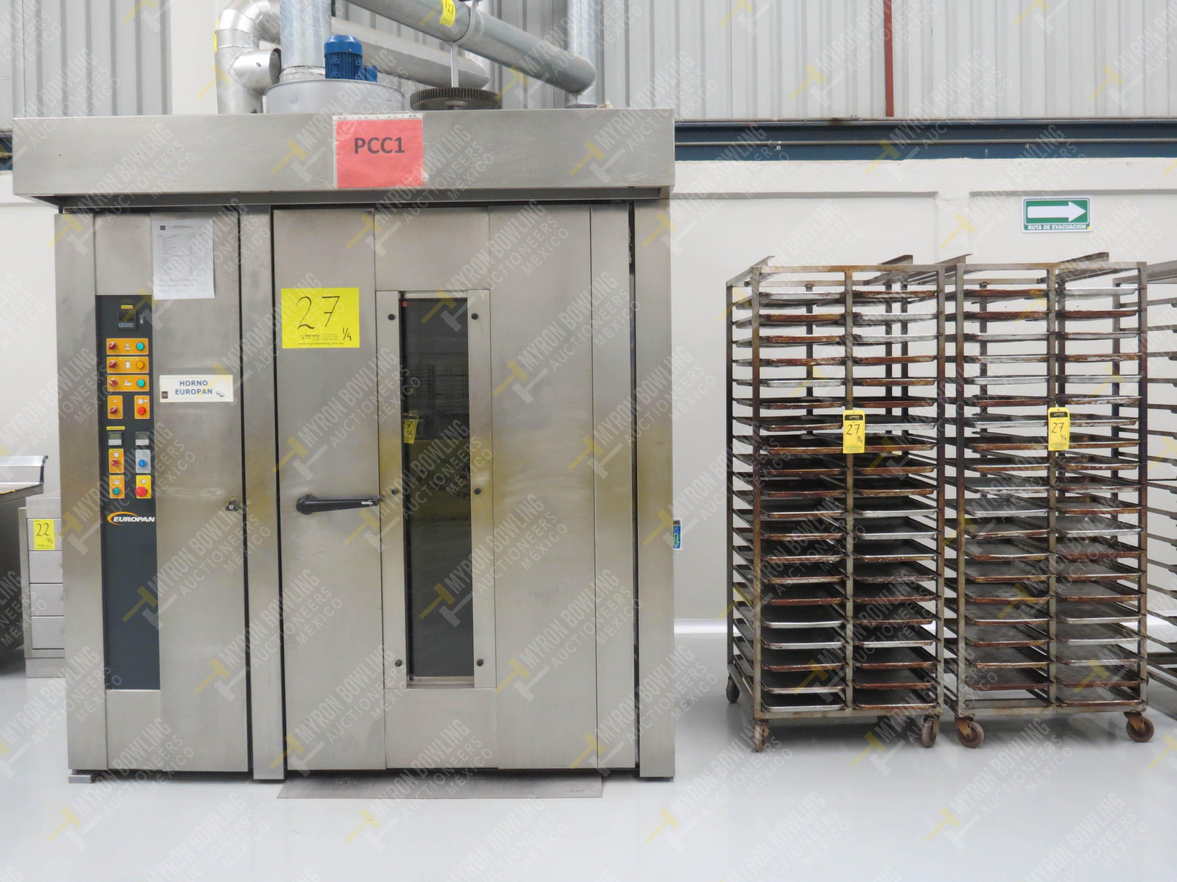 Horno giratorio a gas marca Europan, Modelo LFRN66X92, No. de Serie 6397, año 2007 ...