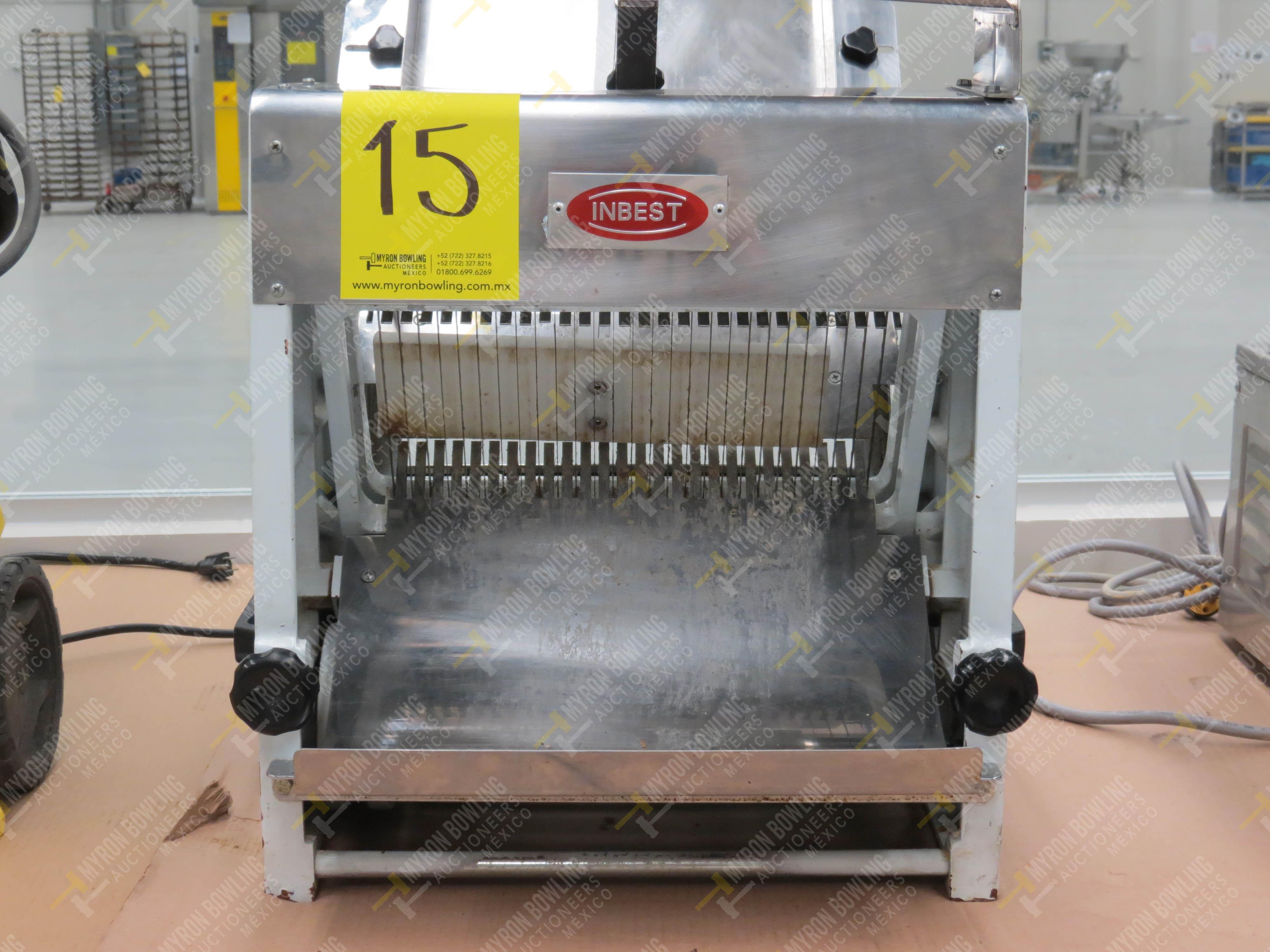 Rebanadora de pan de caja marca Inbest, Modelo 85081512, No. de Serie 639387, año 2006