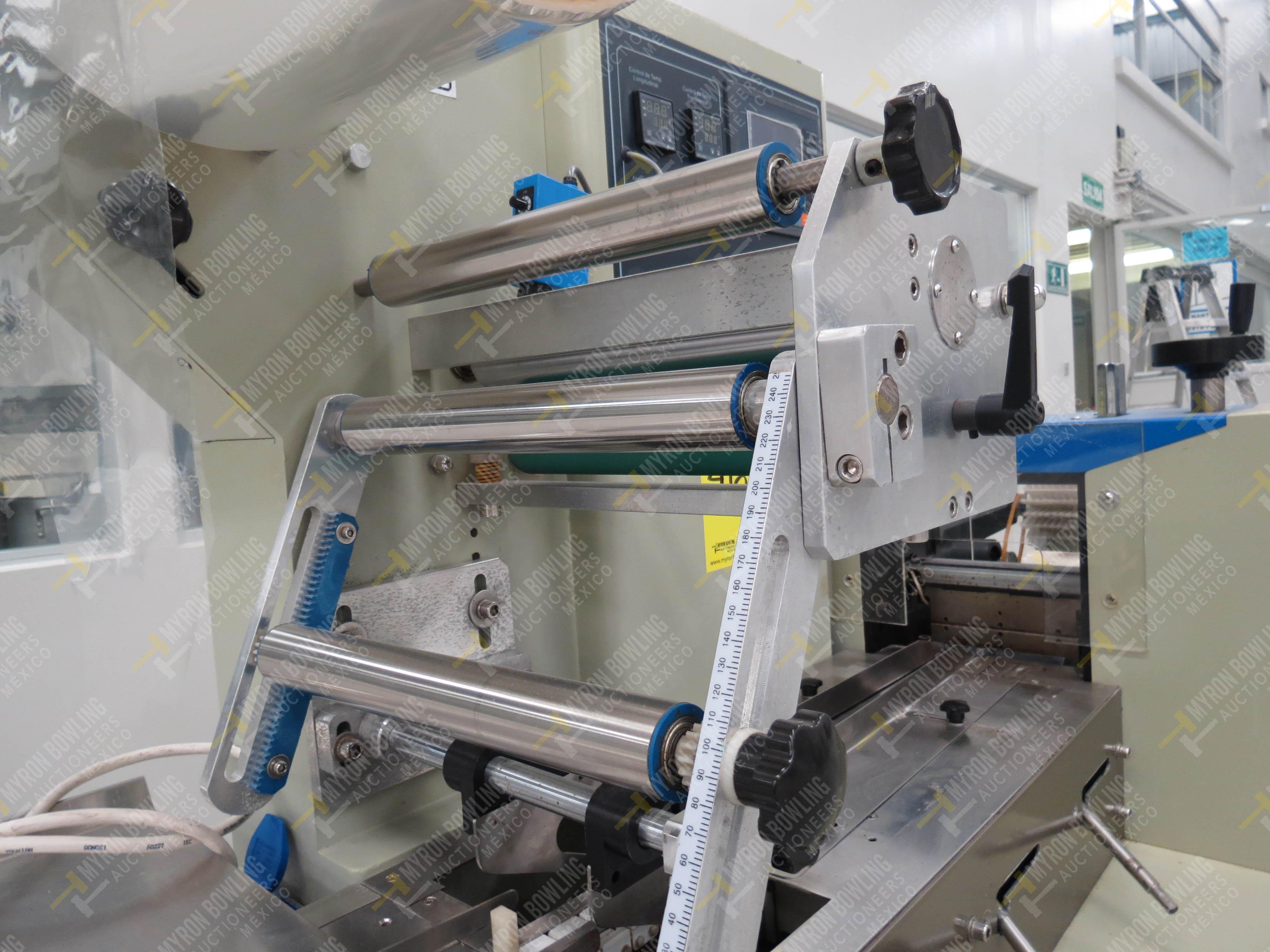 Máquina empacadora automática tipo almohadilla marca Shandong Saixin Inflating Machinery … - Image 4 of 9