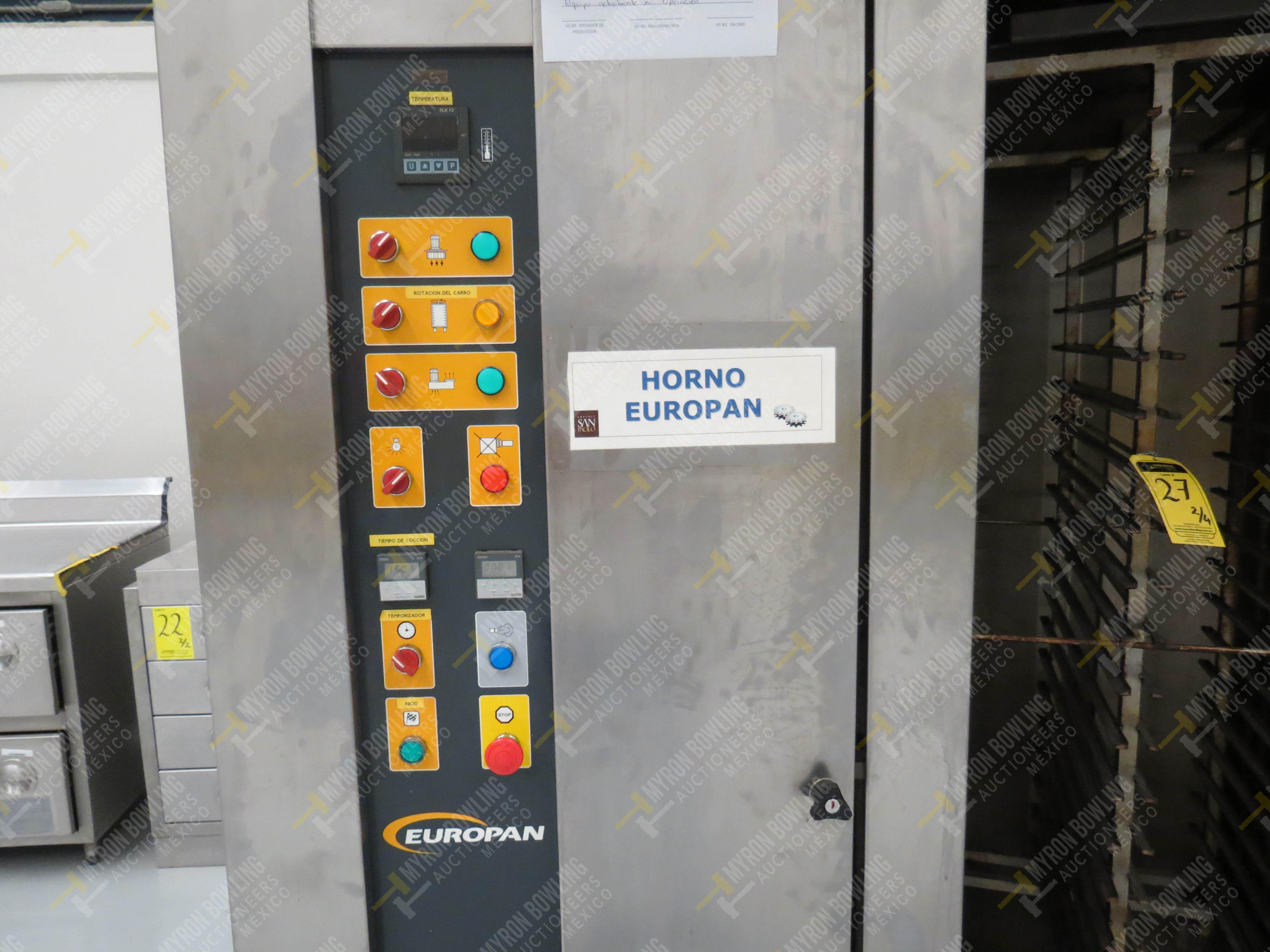 Horno giratorio a gas marca Europan, Modelo LFRN66X92, No. de Serie 6397, año 2007 ... - Image 4 of 13