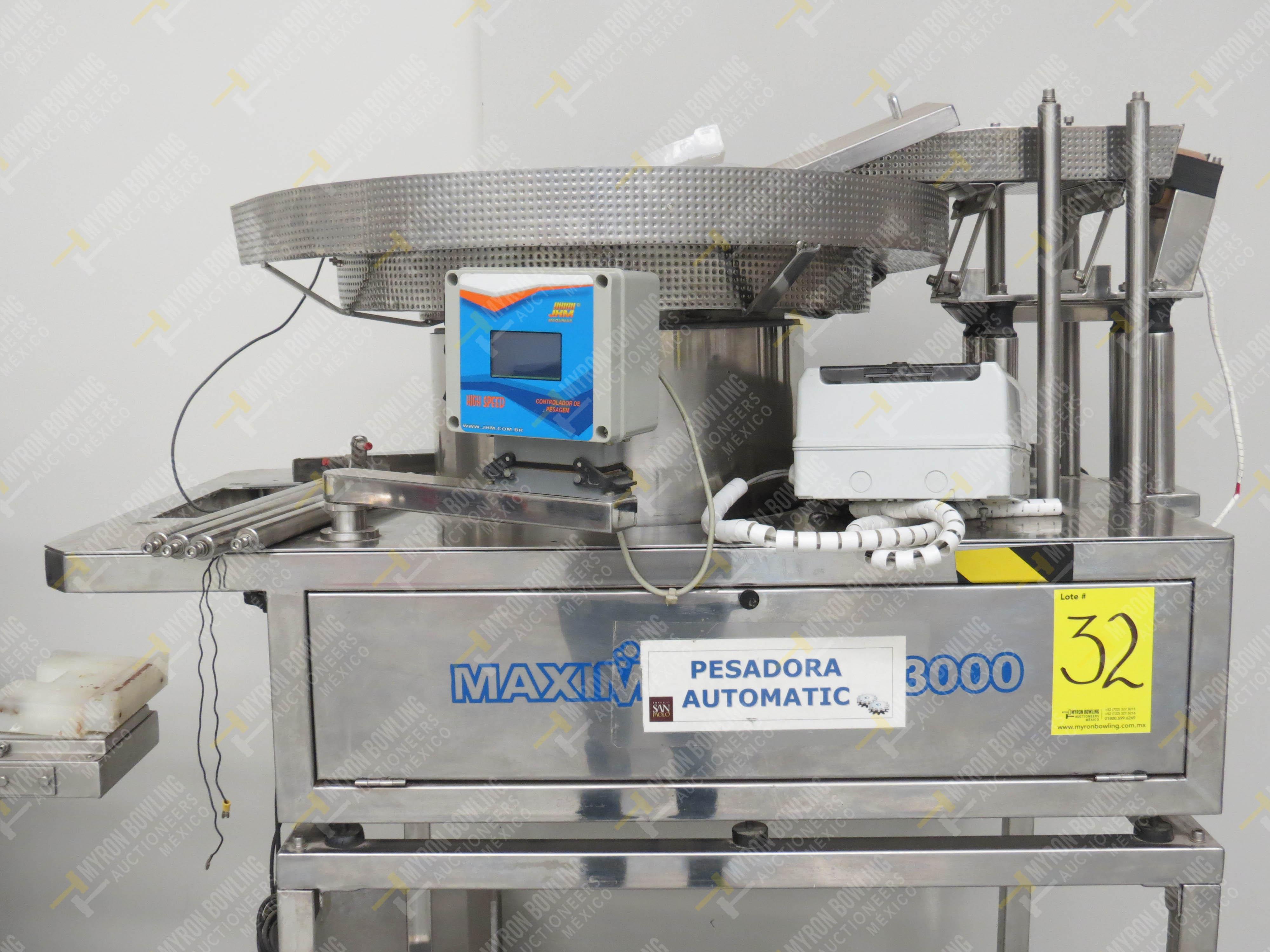 Pesadora automática de precisión marca JHM Máquinas, Modelo Maximatic CLP 3000 Incluye …