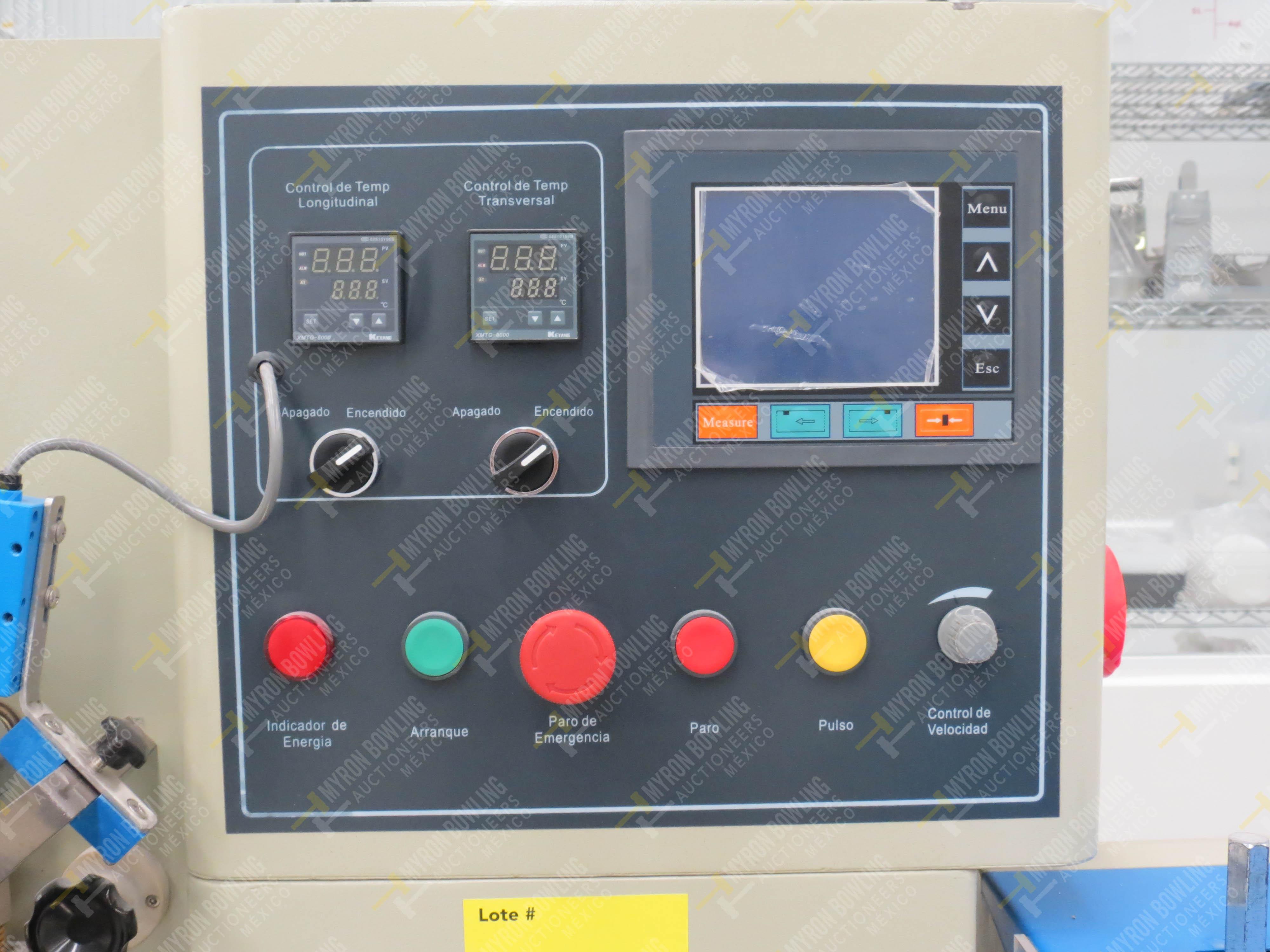Máquina empacadora automática tipo almohadilla marca Shandong Saixin Inflating Machinery … - Image 3 of 9