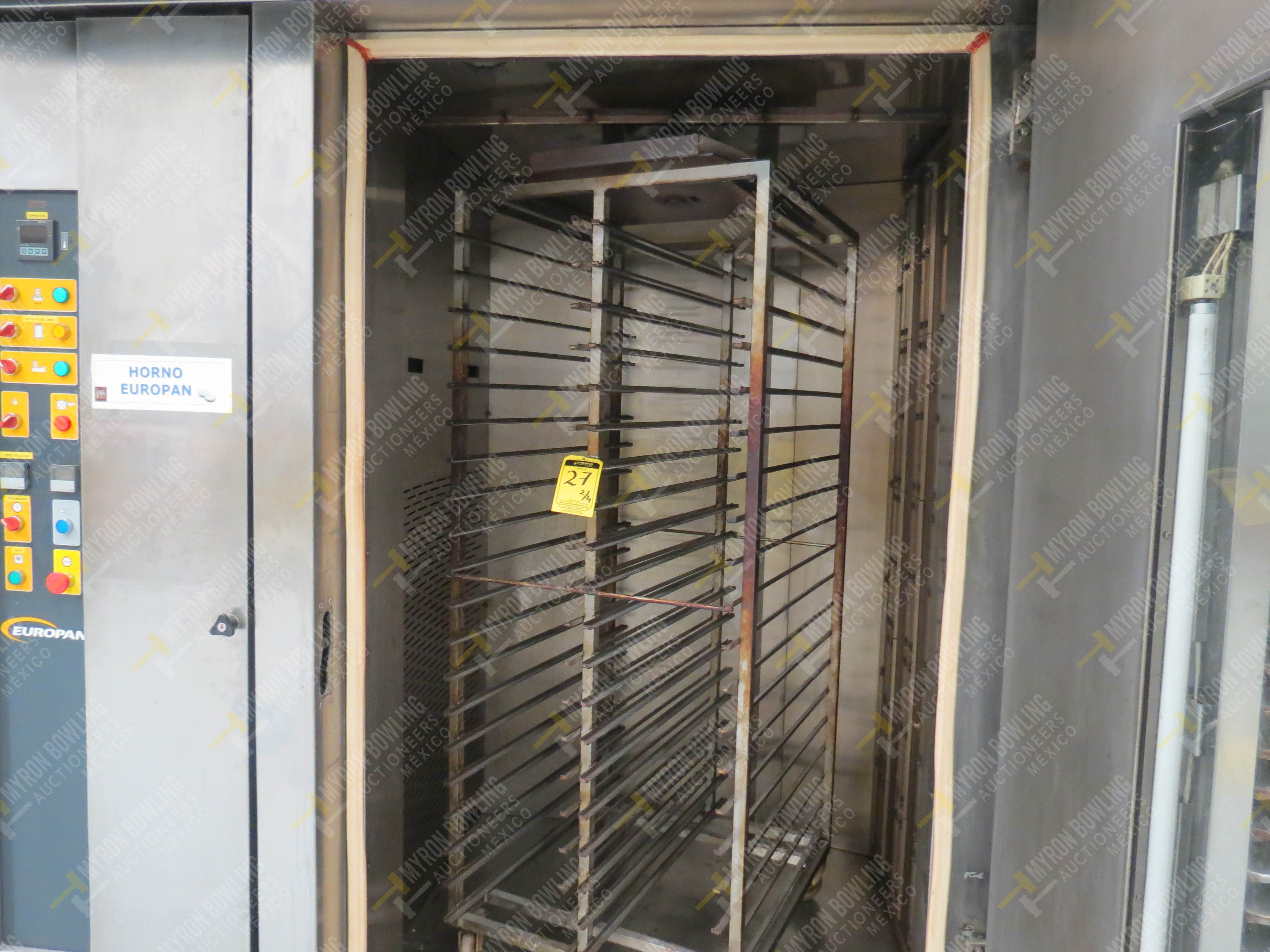 Horno giratorio a gas marca Europan, Modelo LFRN66X92, No. de Serie 6397, año 2007 ... - Image 9 of 13