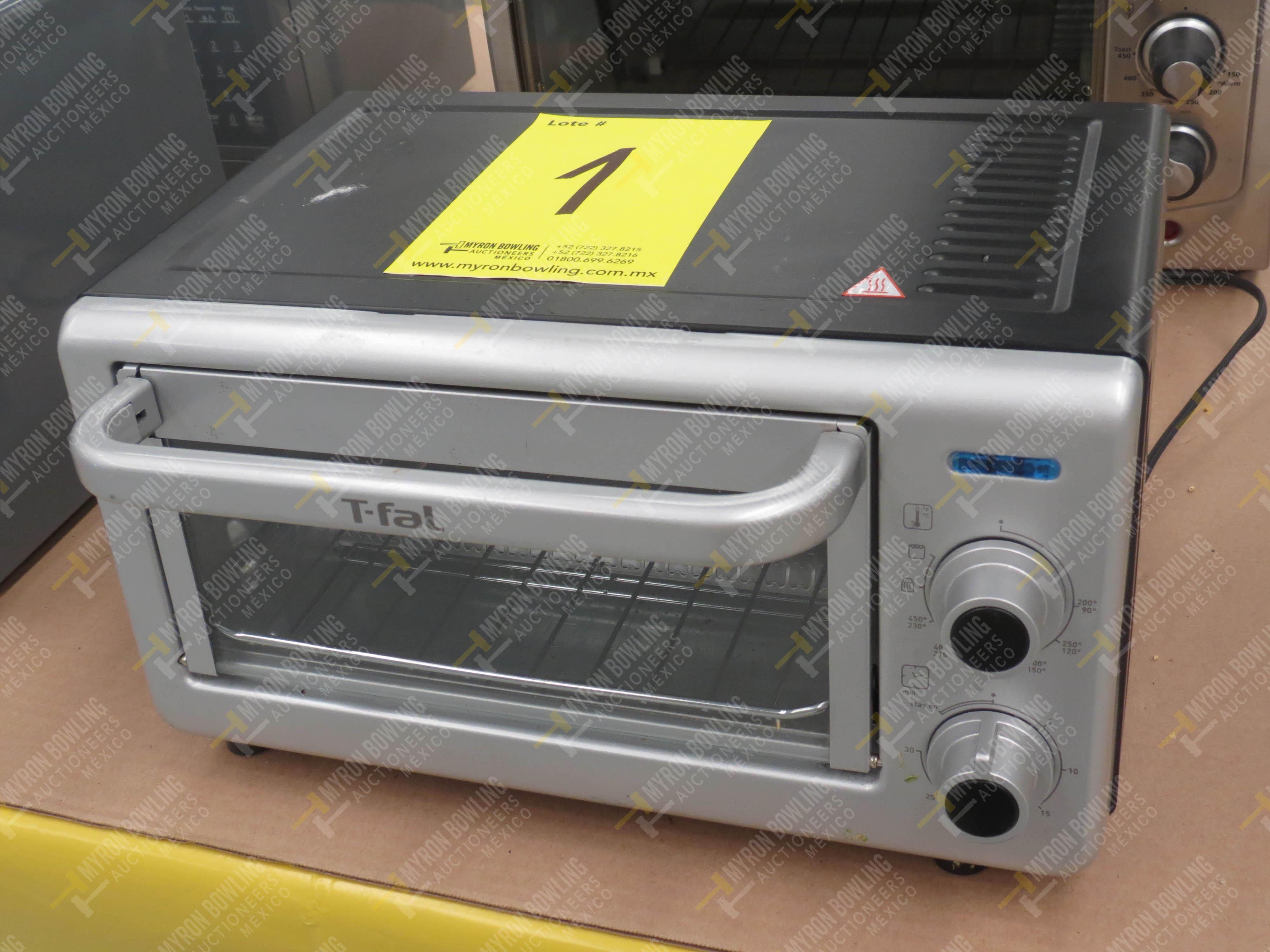 1 Horno eléctrico marca T-fal, Modelo OF160850 No. de Serie T066 y 1 Horno de microondas