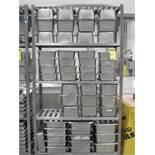 Rack de acero inoxidable de 4 niveles de medidas 1.20 x .45 x 2.20 m, con 51 chaffers de …