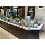 Luxury Retail Glass And Wood Display Cabinets Counter With Storage