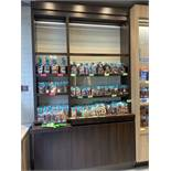 Chic Large Wood Brown Display Cabinet With Adjustable Shelves, Storage & LED