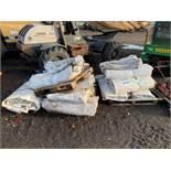 PVC ROOFS PALLET 1 - 4 x 10m x 5m PALLET 2 - 4 x 10m x 5m PALLET 3 - 2 x 20m x 4m + 10m x 5m + 9m x