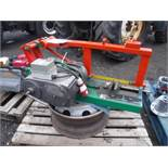 SWIVEL THREE PHASE INDUSTRIAL METAL SAW C/W STAND