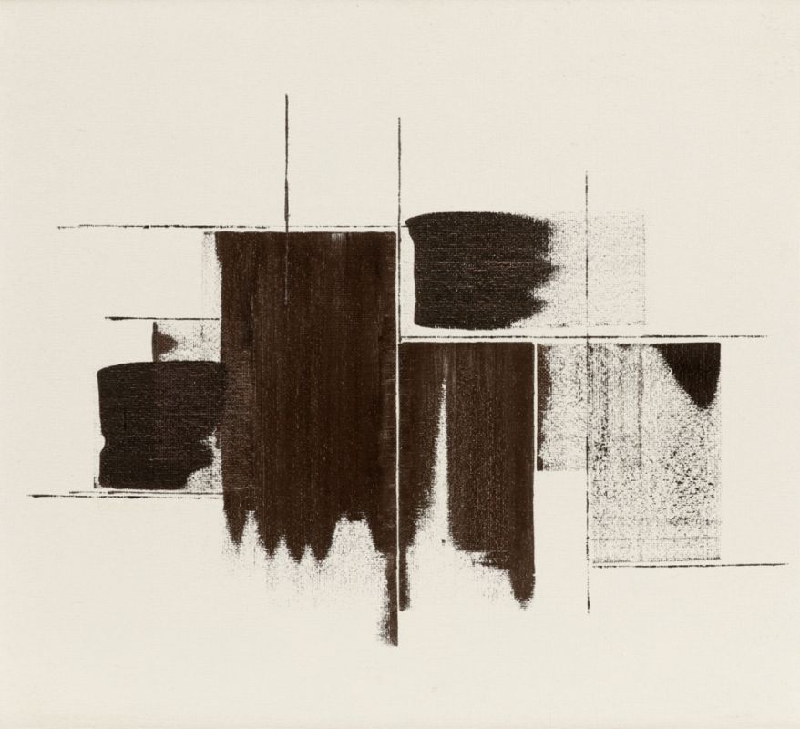 Lot 55 - Künstler des 20. Jahrhunderts- Komposition - Öl/Hartfaser. 70 x 80 cm. Rahmen. Vereinzelt minimale
