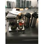 {LOT} 2 Coffee Urns, (3) Pots & Filters