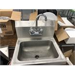 """Single Compartment 17"""" SS Sink"""