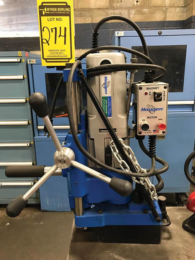 HOUGEN MAGNETIC BASE CORE DRILL, MODEL HMD933, 250/450 RPM, 115V, W/ TOOLING