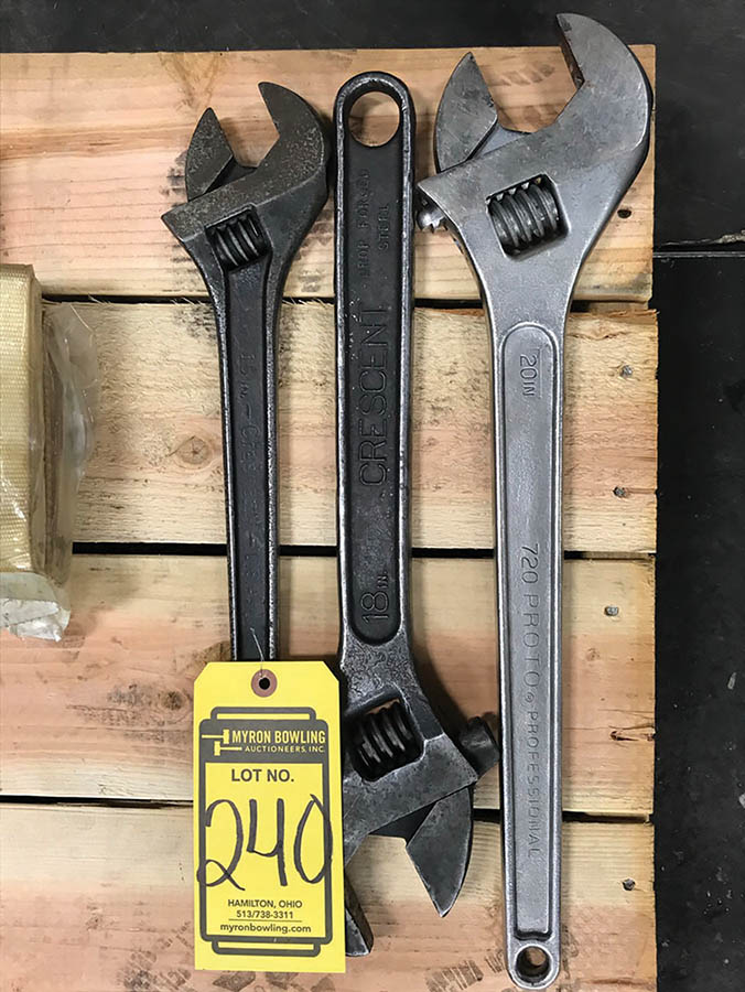 (X3) CRESCENT WRENCHES, (1) 20'', (1) 18'', & (1) 15''