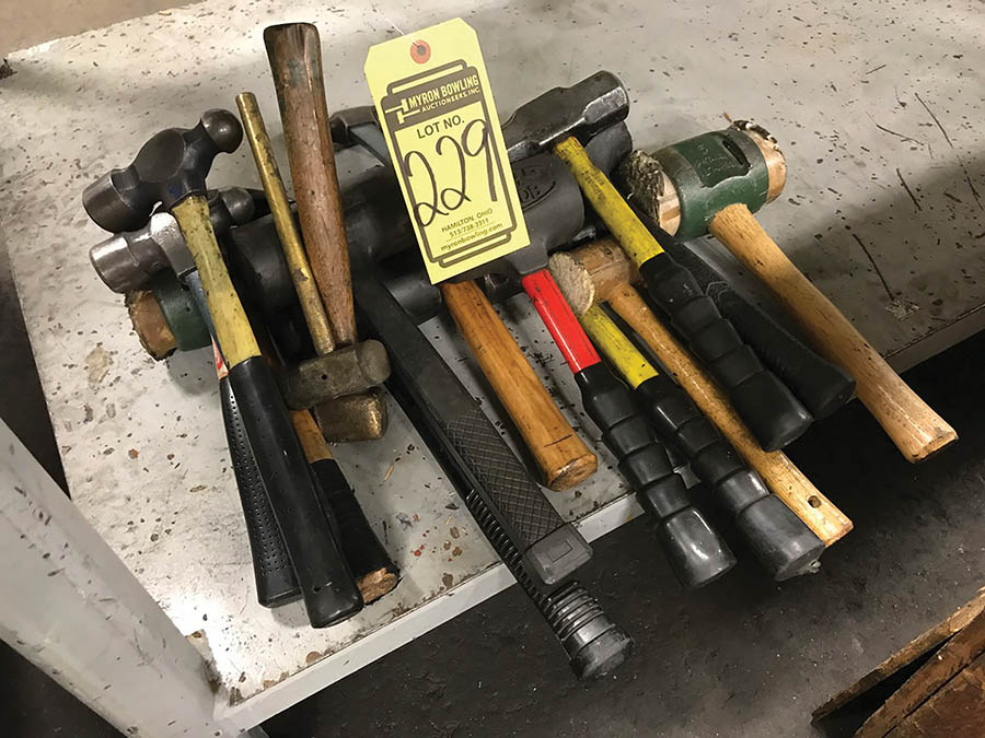 LOT OF ASSORTED HAMMERS, TO INCLUDE BALL PEEN, SLEDGE, & SOFT BLOW HAMMERS - Image 2 of 2