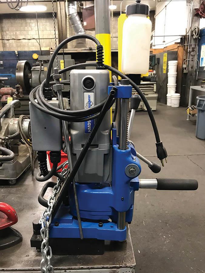 HOUGEN MAGNETIC BASE CORE DRILL, MODEL HMD933, 250/450 RPM, 115V, W/ TOOLING - Image 2 of 6