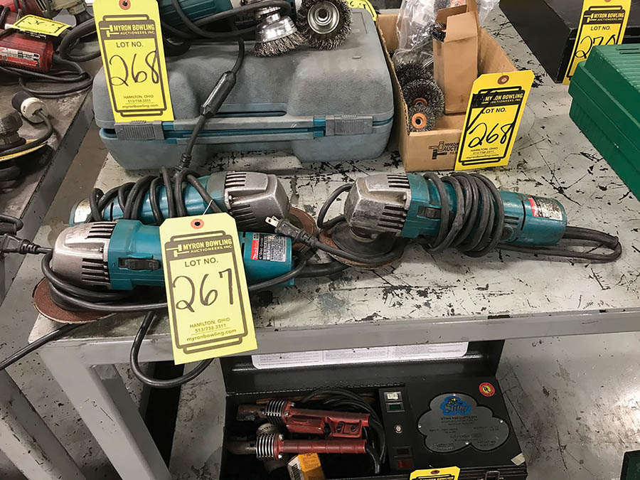 MAKITA 4-1/2'' ELECTRIC ANGLE GRINDERS, MODEL N9501B, 115V