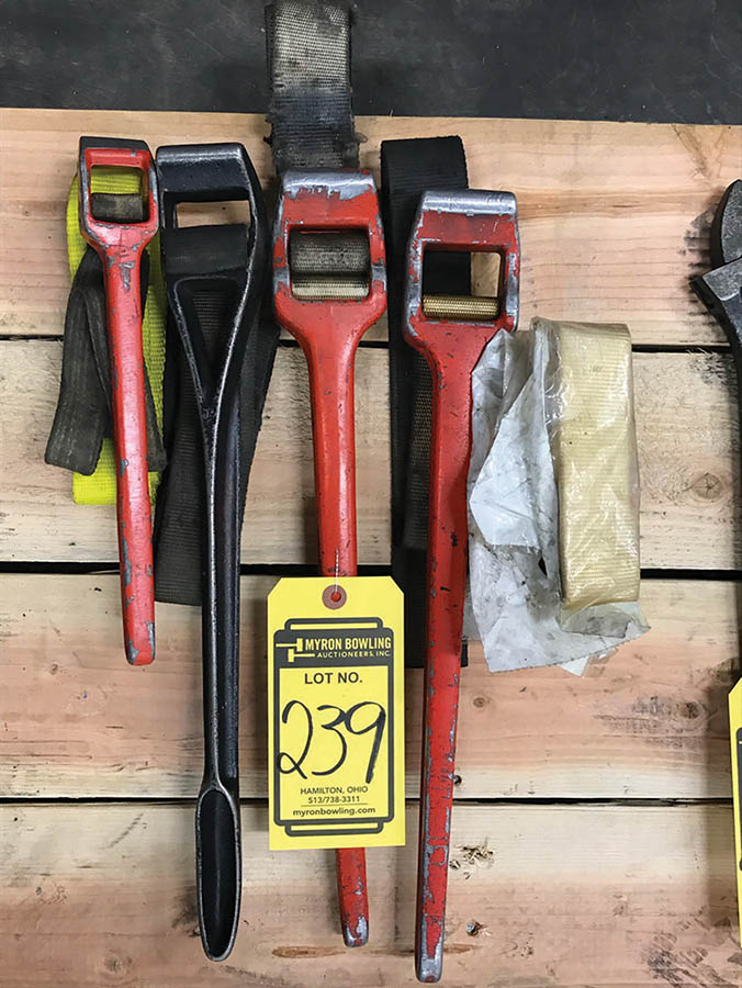 (X4) STRAP PIPE WRENCHES