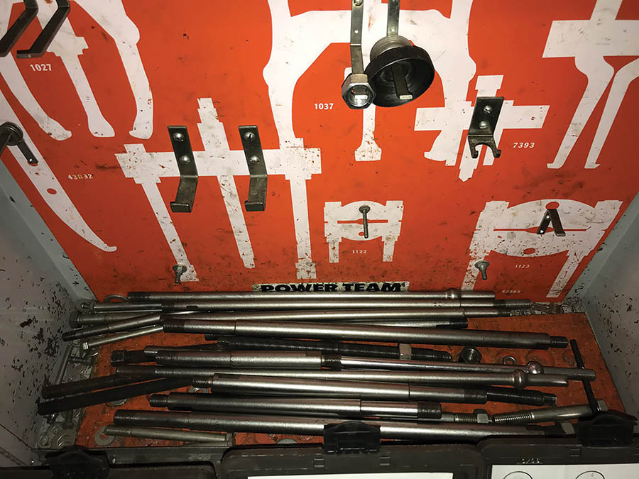 POWERTEAM GEAR PULLER PARTS W/ CABINET & OTC ADAPTERS - Image 3 of 5