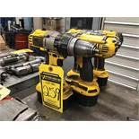 (X4) DEWALT 1/2'' 18V CORDLESS DRILLS, (1) MODEL DC925, (3) MODEL DCD950, W/ (2) BATTERY CHARGERS