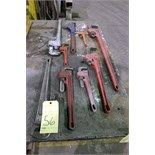 Lot 56 - LOT OF PIPE WRENCHES