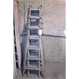 Lot 48 - LOT OF A-FRAME LADDERS, adj.