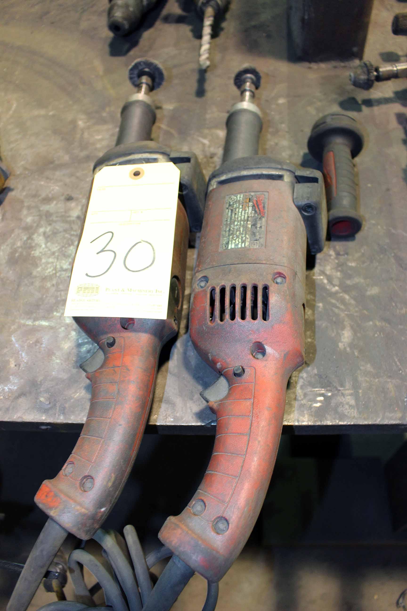 Lot 30 - LOT OF ELECTRIC PIPE GRINDERS, I.D.