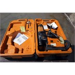 "Lot 1 - AUTO MAGNETIC BASE DRILL, SLUGGER 3-1/8"" MDL. JCM312, w/auto feed & storage case"